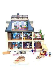 Playmobil Victorian Mansion 5300 Dollhouse 99% Complete w Extra Furniture Lot
