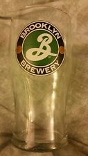 BROOKLYN BREWERY Tulip Style 16oz Beer Pint Glass ~ Double Sided Logo EUC