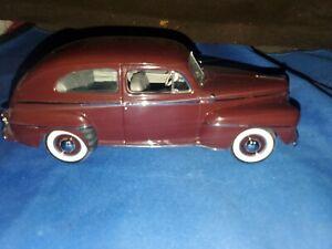Danbury Mint 1947 Ford Super Deluxe Tudor Sedan in 1/24th scale.