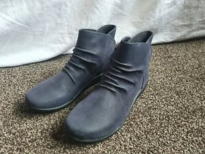 Clarks Cloudsteppers Ankle boots Size UK 6.5  Blue sillian sway  Worn  Once