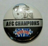1984 SUPER BOWL XVIII OAKLAND RAIDERS AFC CHAMPIONS PIN BUTTON