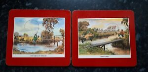 Comical Angling table place mats X 2