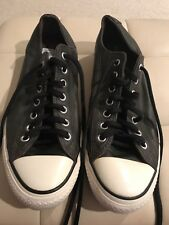 CONVERSE CHUCK TAYLOR BLACK LEATHER SNEAKERS