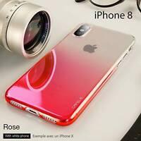 Housse Etui Coque Bumper Antichocs Case Cover Glaze Apple iPhone 8 couleur Rose