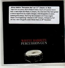 (CM639) White Rabbits, Percussion Gun - 2010 DJ CD