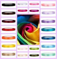 Satinband 50mx3mm 25mx6mm breite Band Dekoband Geschenkband Band Schleife Farben