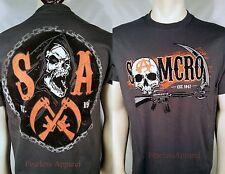 SPRING '14 Sons Of Anarchy Círculo Cadena Segador Calavera Gun Soa Samcro Camisa