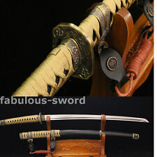 39' 1060 CARBON STEEL BLACK SAYA HANDMADE JAPANESE ARMY SWORD SHARP