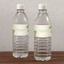 100 Evergreen Water Bottle Labels Bridal Shower Wedding Favors