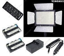 YongNuo YN-600LED Video Light Flash+2X NP-F550 Battery For Nikon Canon Camera F1
