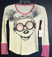 New Disney Store Minnie Rhinestone 4 Eyes Tshirt Top Xl