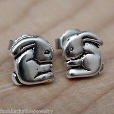 Bunny Earrings - Sterling Silver Post Earrings - Bunny Rabbit Girl Jewelry *NEW*