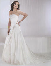 Bridal Wedding Gown Dress  Private Label BY G Style 1413 White/Silvr Size 10 NEW