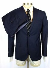 New TED BAKER ENDURANCE Navy Stripe Wool 2Btn Flat Front Suit 38 38S NWT $795