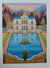 "FANCH LEDAN Lithograph ""Linderhof Castle""  Signed, Numbered with COA!"