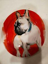 New ListingAnthropologie Sally Muir Frenchie French Bulldog Dessert Plate Dog A Day