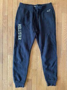 Hollister Sweatpants Men Size Small Blue Pull On Fleece Drawstring Joggers Knit
