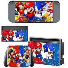 Super Mario & Sonic Nintendo Switch Console Joy-Con Skin Vinyl Skin Decals