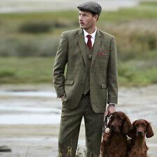 Samuel Windsor 3 Piece Tweed Suit Mens Jacket Trousers or Waistcoat Wool Blazer