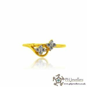 22ct 916 Yellow Gold Ring with CZ Size N SR143
