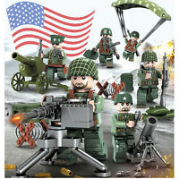 USA Army Soldier WW2 Set US Military Base MiniFigures Blocks Fit Lego UK SELLER