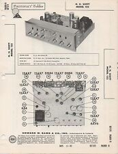 1962 H.H. SCOTT 122 TUBE STEREO PREAMPLIFIER  SERVICE MANUAL PHOTOFACT SCHEMATIC