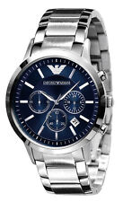 ARMANI AR2448 CLASSIC BLUE DIAL 43MM WATCH.NEW.STEEL STRAP