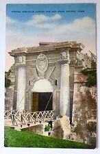 1955 Havana Cuba Postcard -Cabana Fortress -with uncanceled stamps
