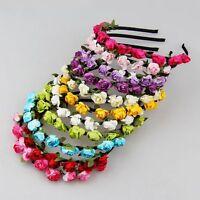 Rose Flower Crown Wedding Headband Wedding Garland Floral Hairband Accessories