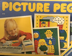 Vintage 1992 Ravensburger Picture Peg Discovery Toys Educational Activity Kids++