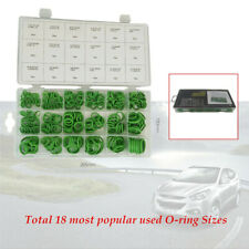 270Pcs 18Sizes Green Rubber AC A/C System O-Ring Gasket Seals Washer Repair Kit