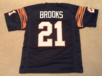 UNSIGNED CUSTOM Sewn Stitched James Brooks Black Jersey - M, L, XL, 2XL