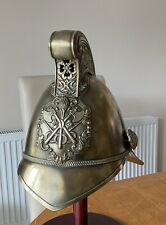 More details for an old original brass fireman helmet, made by merryweather  & sons.