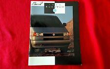 Volkswagen 1993 Eurovan Original Sales Brochure