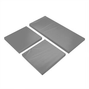 Replacement Cushions Set 3PC Garden Furniture to Fit Rattan Patio Outdoor GREY
