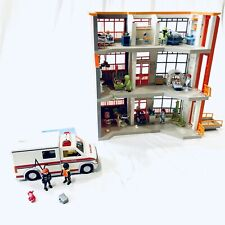 Playmobil 6657 Children's Hospital with 6443 Extension Nearly Complete W/ Extras
