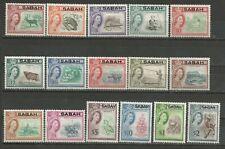 1964 NORTH BORNEO optd SABAH S.G. 408-23 QE II N. 16 val.  CPL   MNH**