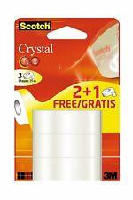 SCOTCH Crystal ruban adhésif Clear 600, 19 mm x 15 m Lot de 2+1 Gratuit