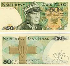 A   SAISIR      BILLET 50  ZLOTYS  POLOGNE  NEUF  1988       UNC       !!!!