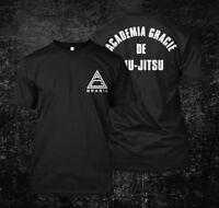 Academia Gracie De Jiu-Jitsu Brazillian - Custom Men's T-Shirt Tee