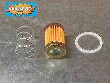 Quadrajet short fuel filter kit with spring and gasket, 72-89. Quadrajet Power