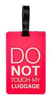 Do Not Touch Airline Travel Luggage Tag Silicone Rubber Bag Name