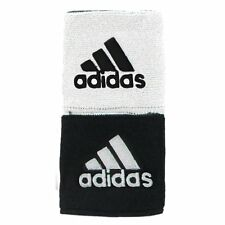"""Adidas Interval 3 """" Reversible Wristbands – White/Black (NEW) Includes 2 Bands"""