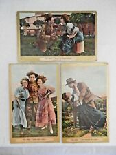 Antique Set of 3 Postcards - ©1909 - The Army