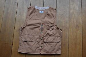 Wrangler Blue Bell Monty Worker / Hunting Vest Khaki Made in USA Rising Sun