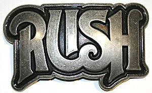 "RUSH Progressive Rock Heavy Metal Band LOGO Unisex BELT BUCKLE 2-1/2"" x 5"" New"