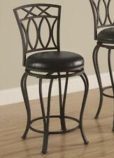 "Black Metal Counter Height Swivel Bar Stool Chair 24""H by Coaster 122059"