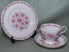 Royal Tuscan Love In A Mist Bone China Trio Tea Cup Saucer Plate Pat.822 (White)