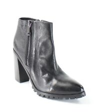 Steve Madden NEW Black Norris Shoes Size 11M Ankle Leather Boots $170- #404