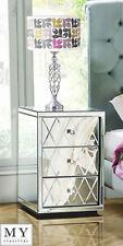 2 x Mirrored Furniture Bedside Table cabinet 3  Drawers  (Knightsbridge range)